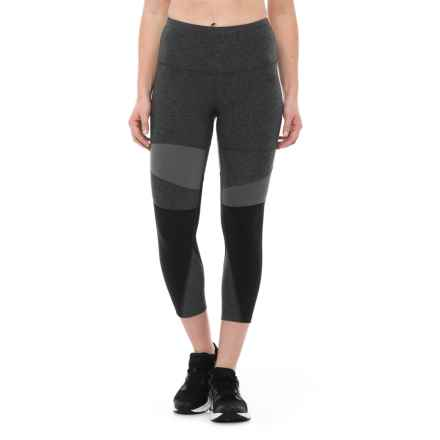 The North Face Motivation Capri Tights (For Women) in Tnf Dark Grey Heather/Tnf Black - Closeouts
