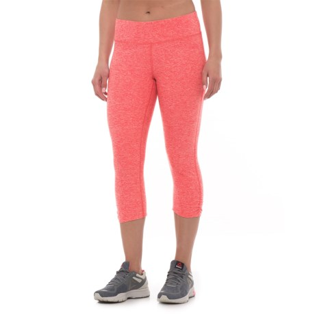 The North Face Motivation Crop Leggings (For Women) in Snowcone Red Heather
