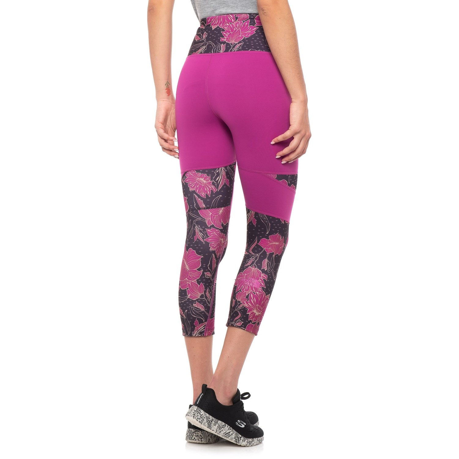 c3b2177a06 The North Face Motivation High Rise Printed Crop Leggings (For Women)