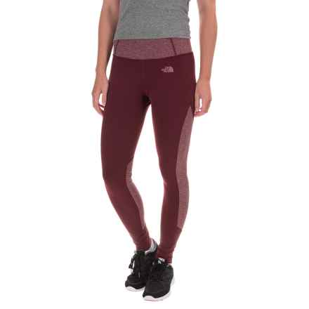 The North Face Motivation Leggings - Color-Block Printed (For Women) in Deep Garnet Red/Deep Garnet Red Heather - Closeouts