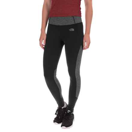 The North Face Motivation Leggings - Color-Block Printed (For Women) in Tnf Black/Tnf Dark Grey Heather - Closeouts