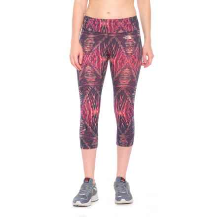 The North Face Motivation Printed Capris (For Women) in Cabaret Pink/Costal Fjord Blue Summerdaze Print - Closeouts