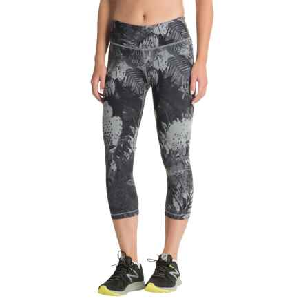 The North Face Motivation Printed Capris (For Women) in Tnf Black Crackalackin Print - Closeouts