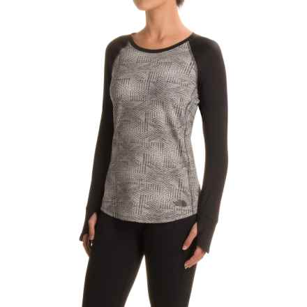 The North Face Motivation Shirt - Long Sleeve (For Women) in Asphalt Grey Jacquard/Tnf Black - Closeouts