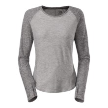 The North Face Motivation Shirt - Long Sleeve (For Women) in Monument Grey Heather/Asphalt Grey Heather - Closeouts