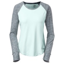 The North Face Motivation Shirt - Long Sleeve (For Women) in Origin Blue/Kodiak Blue Heather - Closeouts