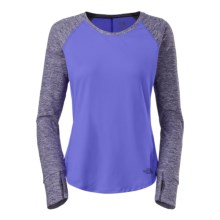 The North Face Motivation Shirt - Long Sleeve (For Women) in Starry Purple/Garnet Purple Heather - Closeouts