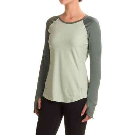 The North Face Motivation Shirt - Long Sleeve (For Women) in Subtle Green Heather/Balsam Green - Closeouts