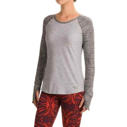 The North Face Motivation Shirt - Long Sleeve (For Women) in Tnf Light Grey Heather/Tnf Dark Grey Heather - Closeouts