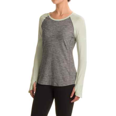 The North Face Motivation Shirt - Long Sleeve (For Women) in Tnf Medium Grey Heather/Subtle Green - Closeouts