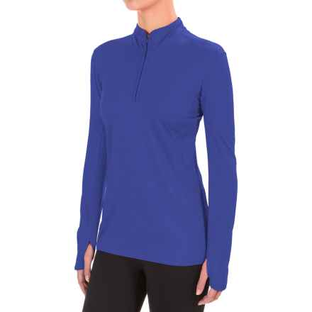 The North Face Motivation Shirt - Zip Neck, Long Sleeve (For Women) in Amparo Blue - Closeouts