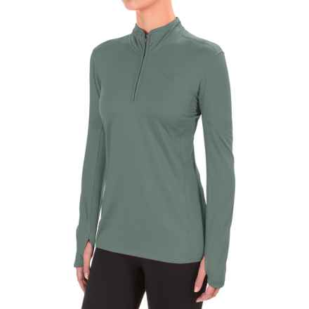 The North Face Motivation Shirt - Zip Neck, Long Sleeve (For Women) in Balsam Green - Closeouts