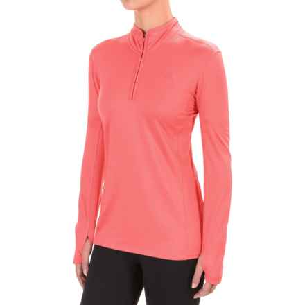 The North Face Motivation Shirt - Zip Neck, Long Sleeve (For Women) in Calypso Coral - Closeouts