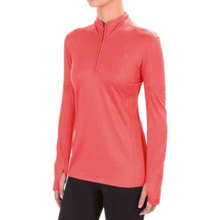 The North Face Motivation Shirt - Zip Neck, Long Sleeve (For Women) in Cayenne Red - Closeouts