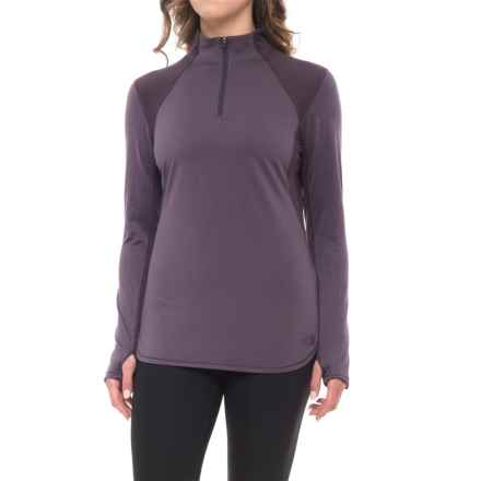 The North Face Motivation Shirt - Zip Neck, Long Sleeve (For Women) in Dark Eggpalnt Purple - Closeouts