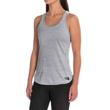 The North Face Motivation Stripe Tank Top (For Women) in Tnf Black Heather - Closeouts