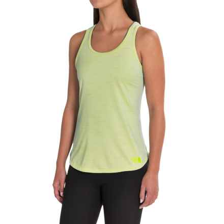 The North Face Motivation Stripe Tank Top (For Women) in Wild Lime Heather - Closeouts