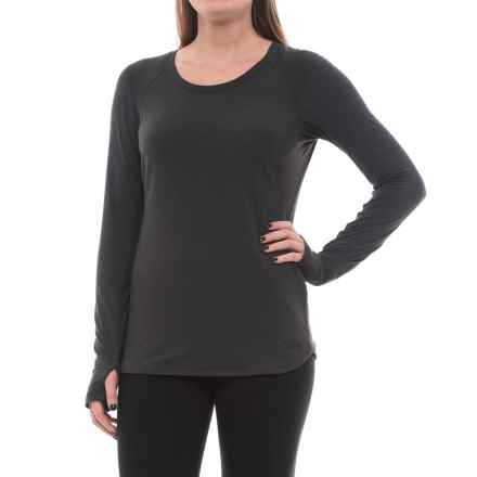 The North Face Motivation T-Shirt - Long Sleeve (For Women) in Tnf Dark Grey Heather - Closeouts