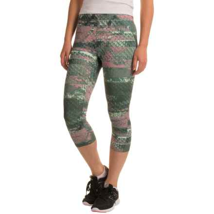 The North Face Motus Capris II (For Women) in Balsam Green Reptile Print - Closeouts