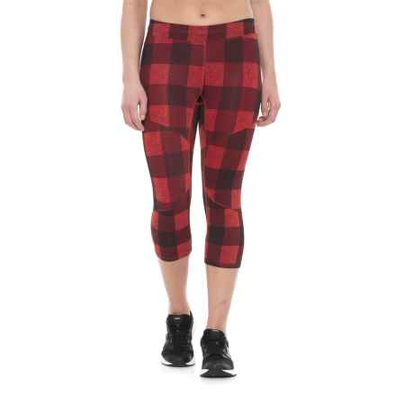 11f6fb8d178ab The North Face Motus Capris III (For Women) in Fire Brick Red Plaid Print