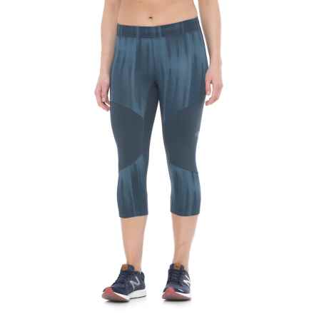 The North Face Motus Capris III (For Women) in Ink Blue/Provincial Blue Reflective Print - Closeouts