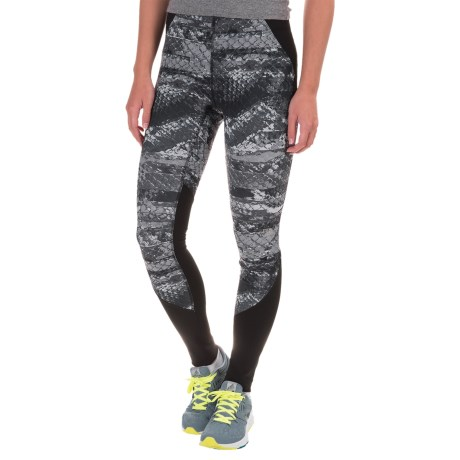 The North Face Motus II Tights (For Women) in Asphalt Grey Reptile Print