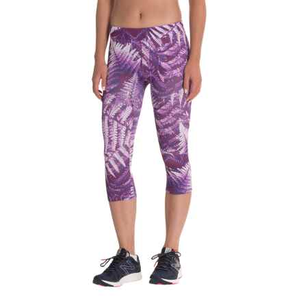 The North Face Motus III Capris (For Women) in Wood Violet Fern Print - Closeouts