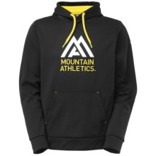 The North Face Mountain Athletics Graphic Surgent Hoodie (For Men) in Tnf Black/Acid Yellow - Closeouts