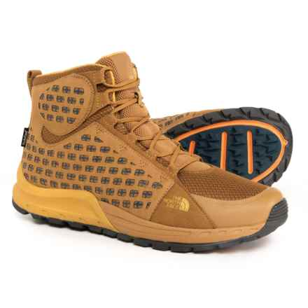 The North Face Mountain Sneaker Mid Hiking Boots - Waterproof (For Men) in Golden Brown/Arrowwood Yellow - Closeouts