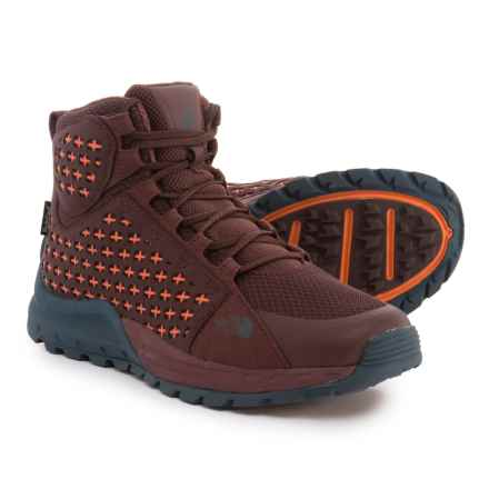 The North Face Mountain Sneaker Mid Hiking Boots - Waterproof (For Women) in Bitter Chocolate Brown / Nasturtium Orange - Closeouts