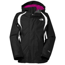 The North Face Mountain Triclimate® Jacket - 3-in-1 (For Little and Big Girls) in Tnf Black/Wisteria Purple - Closeouts