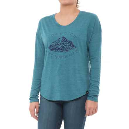 The North Face Mountain View T-Shirt - Long Sleeve (For Women) in Egyptian Blue Heather - Closeouts