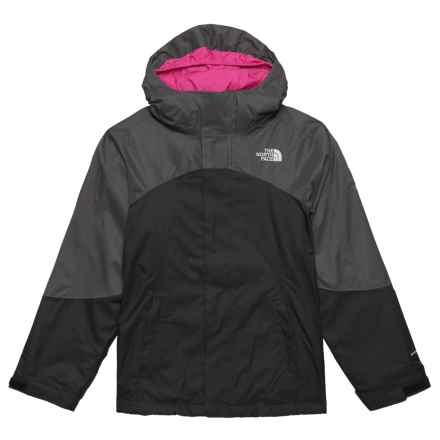 The North Face Mountain View Triclimate® Interchange Jacket - Waterproof, Insulated (For Big Girls) in Graphite Grey - Closeouts