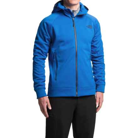 The North Face Nacio Fleece Hoodie - Full Zip (For Men) in Monster Blue - Closeouts