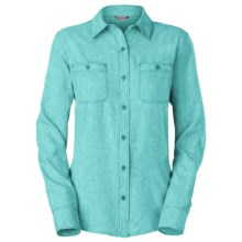The North Face Nada Mucho Woven Shirt - Chambray, Long Sleeve (For Women) in Ion Blue Heather - Closeouts