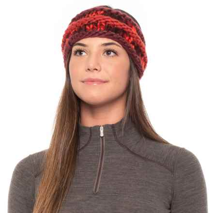 The North Face Nanny Knit Earband (For Women) in Barolor Red - Closeouts