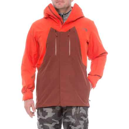 The North Face NFZ Gore-Tex® Jacket - Waterproof (For Men) in Hot Chocolate Brown/Fiery Red - Closeouts