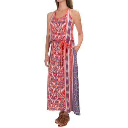 The North Face Nicolette Maxi Dress - Sleeveless (For Women) in Vintage Blue/Tomato Red - Closeouts