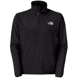 The North Face Nimble Soft Shell Pullover - Zip Neck, Long Sleeve (For Men) in Tnf Black