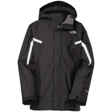 The North Face Nimbo TriClimate® 3-in-1 Jacket - Waterproof, Hooded (For Little and Big Boys) in Tnf Black - Closeouts