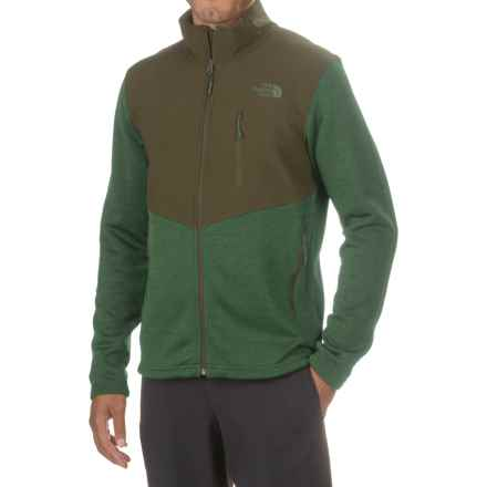 The North Face Norris Jacket - Full Zip (For Men) in Duck Green Heather/Climbing Ivy Green - Closeouts