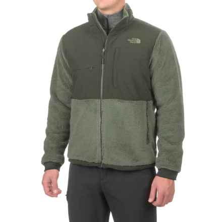The North Face Novelty Denali Jacket (For Men) in Fusebox Grey Sherpa/Rosin Green - Closeouts