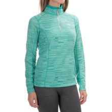 The North Face Novelty Glacier Fleece Jacket - Zip Neck (For Women) in Kokomo Green Stria Print - Closeouts
