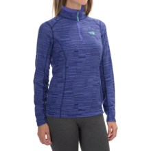 The North Face Novelty Glacier Fleece Jacket - Zip Neck (For Women) in Starry Purple Stria Print - Closeouts