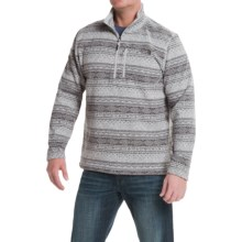 The North Face Novelty Gordon Lyons Fleece Sweater - Zip Neck (For Men) in High Rise Grey Fair Isle Print - Closeouts