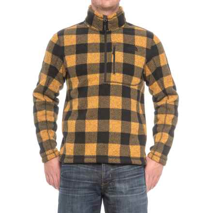 The North Face Novelty Gordon Lyons Shirt - Zip Neck, Long Sleeve (For Men) in Arrowwood Yellow Grizzly Print - Closeouts