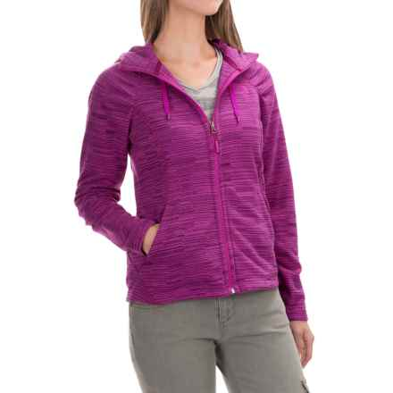 The North Face Novelty Mezzaluna Fleece Hoodie - Full Zip (For Women) in Dramatic Plum Stria Print - Closeouts