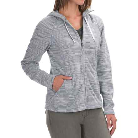 The North Face Novelty Mezzaluna Fleece Hoodie - Full Zip (For Women) in High Rise Grey Stria Prnt - Closeouts