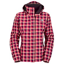 The North Face Novelty Resolve Jacket - Waterproof (For Women) in Baroque Purple Plaid - Closeouts