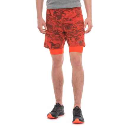 "The North Face NSR Dual Running Shorts - 7"" (For Men) in Ketchup Red Harris Camo Print - Closeouts"